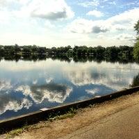 Photo taken at Jamaica Pond by Josh M. on 6/10/2012