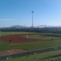 Photo taken at Brent Brown Ballpark by Jonathan G. on 4/21/2012