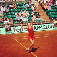 Photo taken at Court Suzanne Lenglen by Thibault d. on 5/28/2012