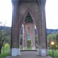 Photo taken at Cathedral Park by Allen on 4/25/2012