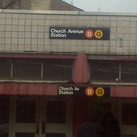 Photo taken at MTA Subway - Church Ave (B/Q) by I'm Mr blunt I don't need ur validation L. on 1/12/2012