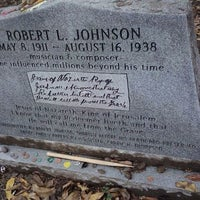 Photo taken at Robert Johnson's Grave by Sheila S. on 11/9/2011