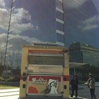 Photo taken at Mandoline Grill Truck by Matt C. on 2/29/2012