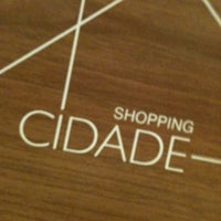 Photo taken at Shopping Cidade by Thiago F. on 1/11/2011