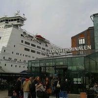 Photo taken at Frihamnsterminalen   Tallink - S:t Peter Line by Gabriel Q. on 4/16/2012