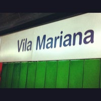 Photo taken at Estação Vila Mariana (Metrô) by Roberta T. on 4/16/2012