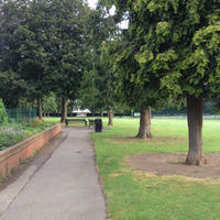 Photo taken at Churchfield Gardens by A Dog On Dogbook on 8/1/2012