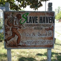 Photo taken at Slavehaven Underground Railroad Museum by Kendria C. on 8/21/2012
