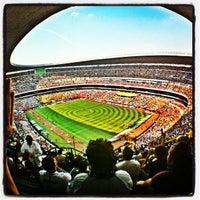 Photo taken at Estadio Azteca by Octavio M. on 5/1/2012