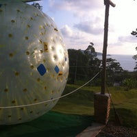Zorbing At Rollerball