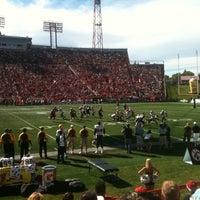 Photo taken at McMahon Stadium by Mark H. on 9/5/2011