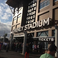 Photo taken at Cheney Stadium by Chrissy B. on 7/28/2012