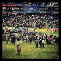 Photo taken at Orlando Stadium by Nkululeko M. on 5/26/2012