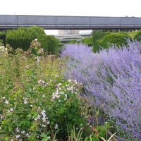 Photo taken at Thames Barrier Park by Sacha on 8/2/2012