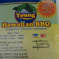 Photo taken at Young's Hawaiian BBQ by Brian W. on 4/1/2012