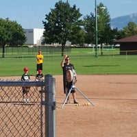 Photo taken at Community Baseball Fields by Kristie B. on 7/21/2012