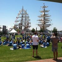 Photo taken at Town Point Park by Yim D. on 6/8/2012