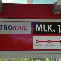 Photo taken at MetroRail - MLK Jr. Station by Sateesh P. on 8/17/2011