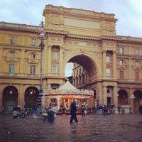 Photo taken at Piazza della Repubblica by Hideki O. on 11/7/2011