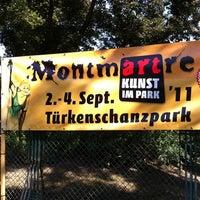 Photo taken at Türkenschanzpark - Montmartre by Christoffer A. on 9/2/2011
