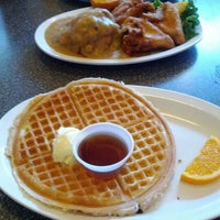 Photo taken at Home Of Chicken and Waffles by Zoe S. on 1/8/2012