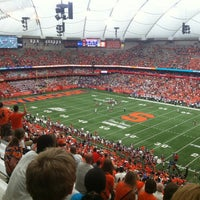 Photo taken at Carrier Dome by Logan on 9/1/2012