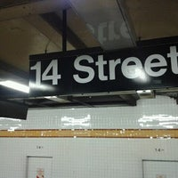 Photo taken at MTA Subway - 14th St (A/C/E/L) by Chocolee W. on 5/28/2012