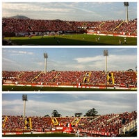 Photo taken at Estádio Arena Joinville by Paulo Henrique S. on 9/1/2012