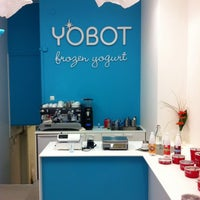 Photo taken at Yobot Frozen Yogurt by Tom B. on 3/8/2012