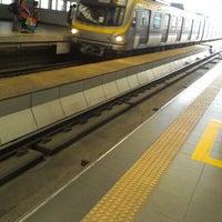 Photo taken at LRT 2 (Araneta Center-Cubao Station) by Mhiko H. on 6/14/2012