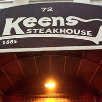 Photo taken at Keens Steakhouse by Mari H. on 10/14/2011