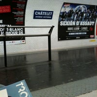 Photo taken at Métro Châtelet [1,4,7,11,14] by Alberto R. on 4/1/2012
