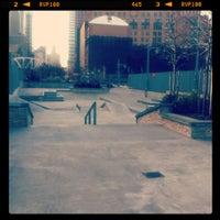 Photo taken at Tribeca Skate Park by Eric G. on 12/9/2011