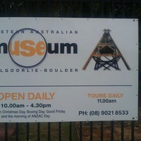 Photo taken at WA Museum - Kalgoorlie-Boulder by Edgar W. on 12/12/2011