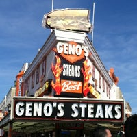 Photo taken at Geno's Steaks by Kari on 1/1/2012