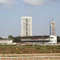 Photo taken at Mahalaxmi Race Course (Royal Western India Turf Club) by Vivek V. on 3/20/2012