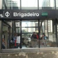 Photo taken at Estação Brigadeiro (Metrô) by Raffael D. on 5/19/2012