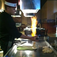 Photo taken at Ninja Japanese Steakhouse & Sushi by Andria W. on 7/30/2012