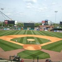Photo taken at Louisville Slugger Field by Jason H. on 4/15/2012