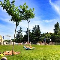 Photo taken at Piscinas Burlada by Ruben M. on 7/3/2012