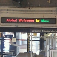 Photo taken at Kahului Airport (OGG) by Jeff H. on 7/7/2012