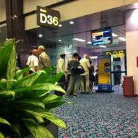 Photo taken at Gate D36 by Wolfgang S. on 7/15/2011