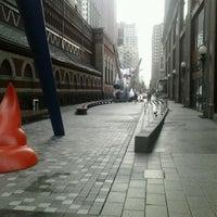 Photo taken at Lenfest Plaza by Kenyatta B. on 1/17/2012