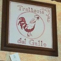 Photo taken at Trattoria del Gallo by Pietro N. on 2/5/2011