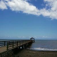 Photo taken at Waimea Recreation Pier by ernie e. on 6/28/2012