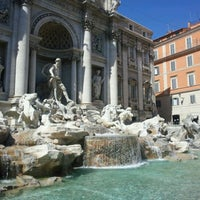 Photo taken at Piazza di Trevi by Amit J. on 8/4/2012