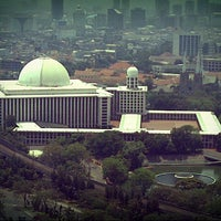 Photo taken at Masjid Istiqlal by Eky R. on 9/8/2012