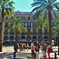 Photo taken at Plaça Reial by Jose N. on 6/16/2012