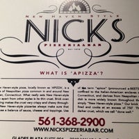 Photo taken at Nick's New Haven Style Pizzeria and Bar by Bob M. on 5/23/2012