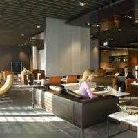 Photo taken at Lufthansa First Class Lounge by Joan J. on 3/6/2012